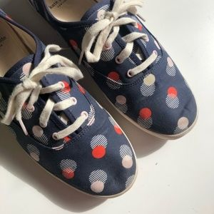 Kate Spade Keds - Polka Dot Navy Blue Pink 7